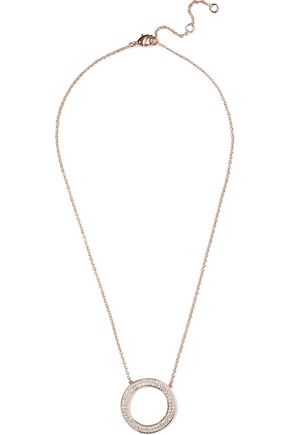 CZ by KENNETH JAY LANE Rose gold-tone crystal necklace