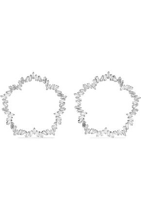 CZ by KENNETH JAY LANE Silver-tone crystal hoop earrings
