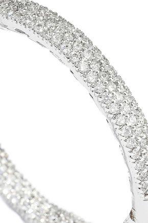 CZ by KENNETH JAY LANE Silver-tone crystal hoop earrings