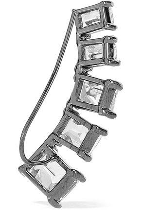 CZ by KENNETH JAY LANE Gunmetal-tone crystal ear cuffs