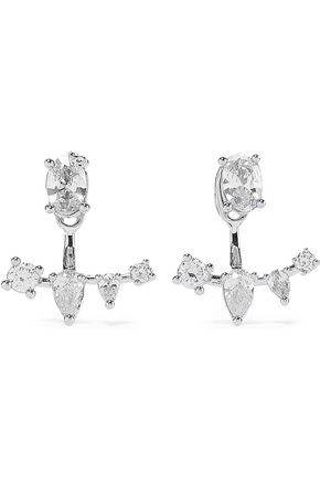 CZ by KENNETH JAY LANE Convertible silver-tone crystal earrings