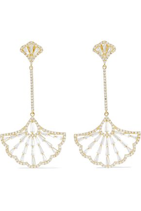 CZ by KENNETH JAY LANE Deco gold-plated crystal earrings