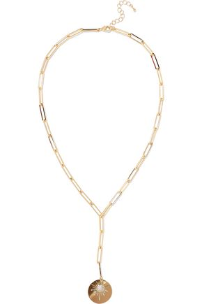 CZ BY KENNETH JAY LANE | Cz By Kenneth Jay Lane Gold-Tone Crystal Necklace | Goxip