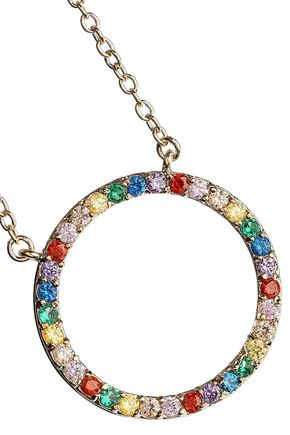 CZ by KENNETH JAY LANE Gold-plated crystal necklace