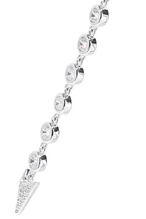 CZ by KENNETH JAY LANE Rhodium-plated crystal necklace
