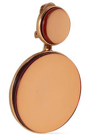 OSCAR DE LA RENTA Gold-tone clip earrings