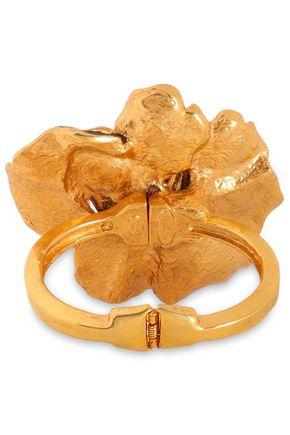 OSCAR DE LA RENTA Gold-tone enamel bracelet