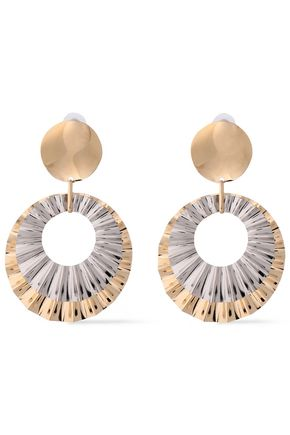 ISABEL MARANT Silver and gold-tone earrings