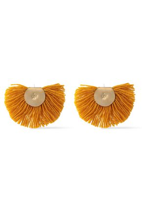 KATERINA MAKRIYIANNI Fringed gold-tone sterling silver earrings