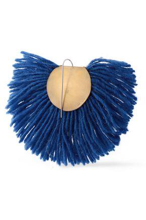 KATERINA MAKRIYIANNI Fringed gold-tone sterling silver earrings