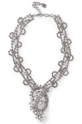 DANNIJO Loraine silver-tone crystal necklace