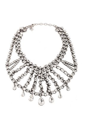 DANNIJO Burnished silver-tone crystal necklace