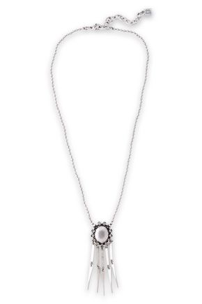 DANNIJO Lloyd oxidized silver-tone necklace