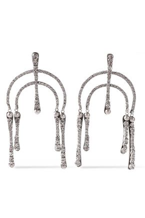 DANNIJO Kamil silver-tone crystal earrings