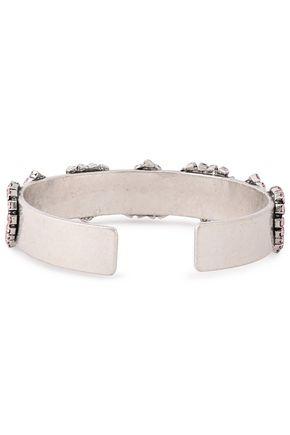 DANNIJO Coeur oxidized silver-tone crystal cuff