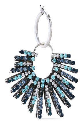 DANNIJO Kravis convertible oxidized silver-tone crystal earrings
