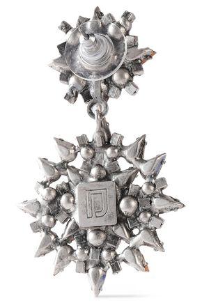 DANNIJO Alby silver and gunmetal-tone crystal earrings