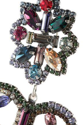 DANNIJO Prerto burnished silver-tone crystal earrings