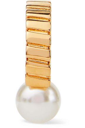 CHLOÉ Gold-tone faux pearl ear cuff