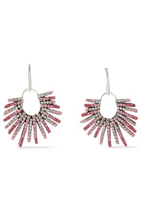 DANNIJO Kravis convertible silver-tone crystal earrings