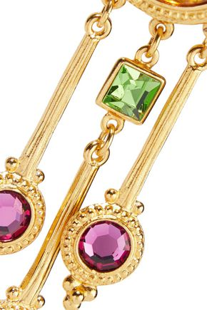 BEN-AMUN 24-karat gold-plated crystal necklace