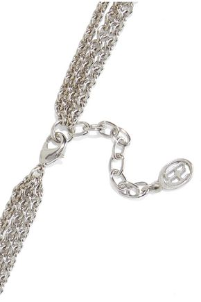 BEN-AMUN Silver-tone, crystal and faux pearl necklace