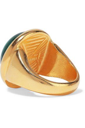BEN-AMUN 24-karat gold-plated stone ring