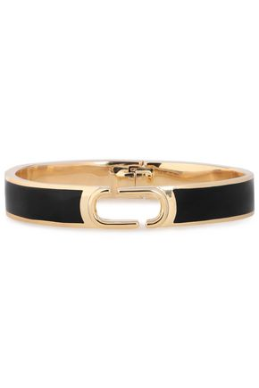 MARC JACOBS Icon gold-plated enamel cuff