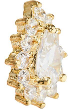 CZ by KENNETH JAY LANE 14-karat gold-plated crystal earrings