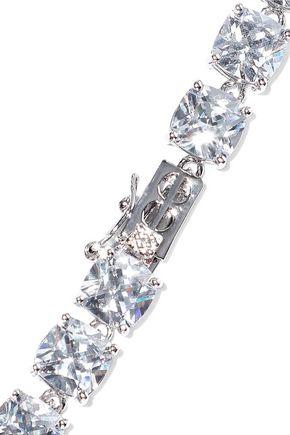 CZ by KENNETH JAY LANE Rhodium-plated crystal choker