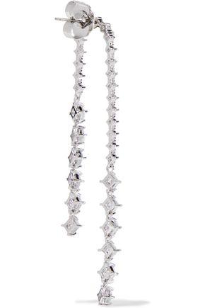 CZ by KENNETH JAY LANE Rhodium-plated crystal earrings