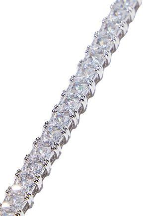 CZ by KENNETH JAY LANE Rhodium-plated crystal bracelet