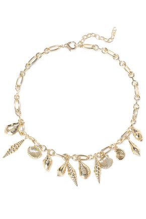 NOIR JEWELRY Washed Ashore 14-karat gold-plated necklace