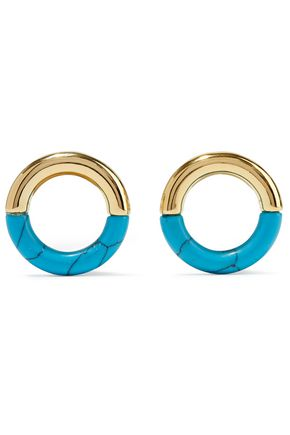 NOIR JEWELRY 14-karat gold-plated resin earrings