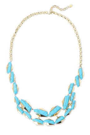 NOIR JEWELRY Afterglow 14-karat gold-plated stone necklace