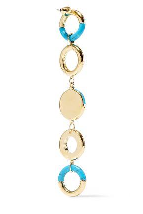 NOIR JEWELRY Steady Glow 14-karat gold-plated stone earrings