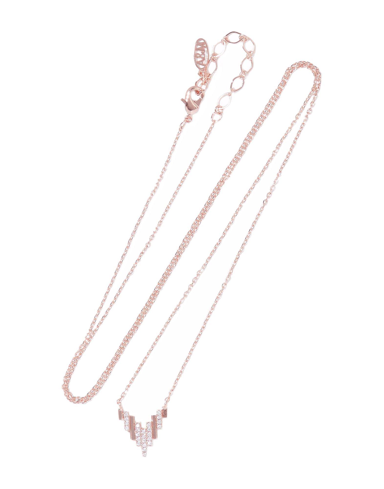 《セール開催中》ASTRID & MIYU レディース ネックレス カッパー 真鍮/ブラス / 18kピンクゴールドメッキ / キュービックジルコニア