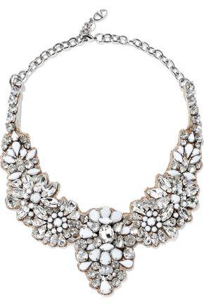 VALENTINO GARAVANI Silver-tone, crystal and stone necklace