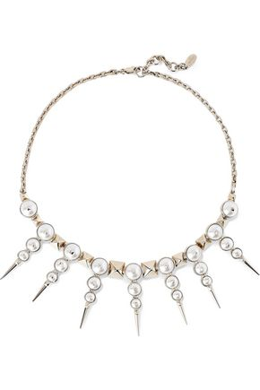 VALENTINO GARAVANI Gold-tone faux pearl necklace