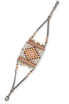 VALENTINO GARAVANI Gold-tone beaded bracelet