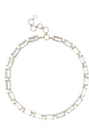 BOUNKIT 14-karat gold-plated quartz necklace