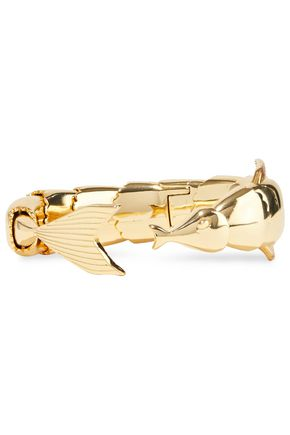 NOIR JEWELRY 14-karat gold-plated cuff