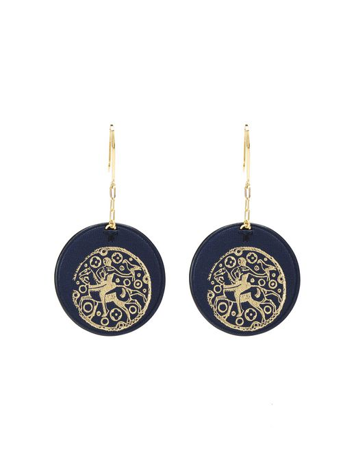 PRINTED LEATHER EARRINGS - Lanvin