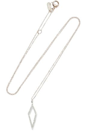 ADINA REYTER 14-karat gold and sterling silver diamond necklace