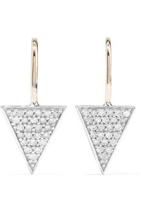 ADINA REYTER 14-karat gold and sterling silver diamond earrings