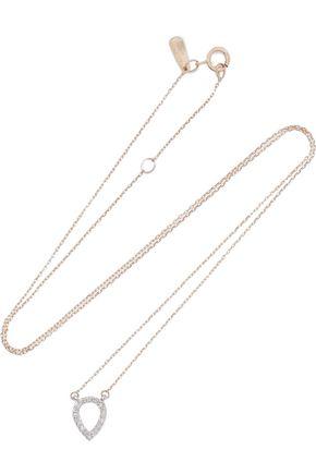 ADINA REYTER 14-karat gold and sterling silver diamond necklace