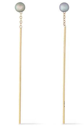 MIZUKI 14-karat gold freshwater pearl earrings