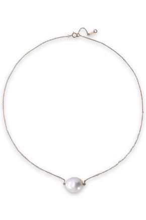 MIZUKI 14-karat gold, diamond and freshwater pearl necklace