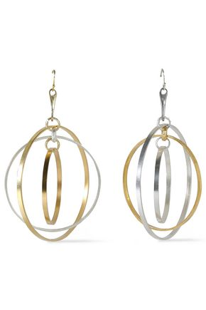 ARIS GELDIS Gold-plated and silver-tone earrings
