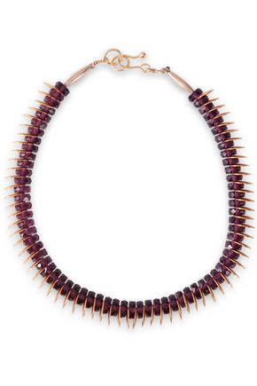 ARIS GELDIS Gold-tone amethyst necklace